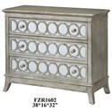 Crestview Collection Accent Furniture Beverly Gold Leaf Mirrored Circle 3 Drawer C - Item Number: CVFZR1602