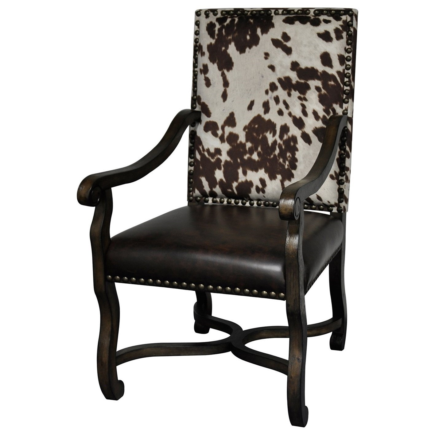 Mesquite Ranch Leather & Faux Cowhide Chair