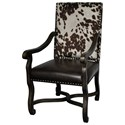 Crestview Collection Accent Furniture Mesquite Ranch Leather & Faux Cowhide Chair - Item Number: CVFZR1791