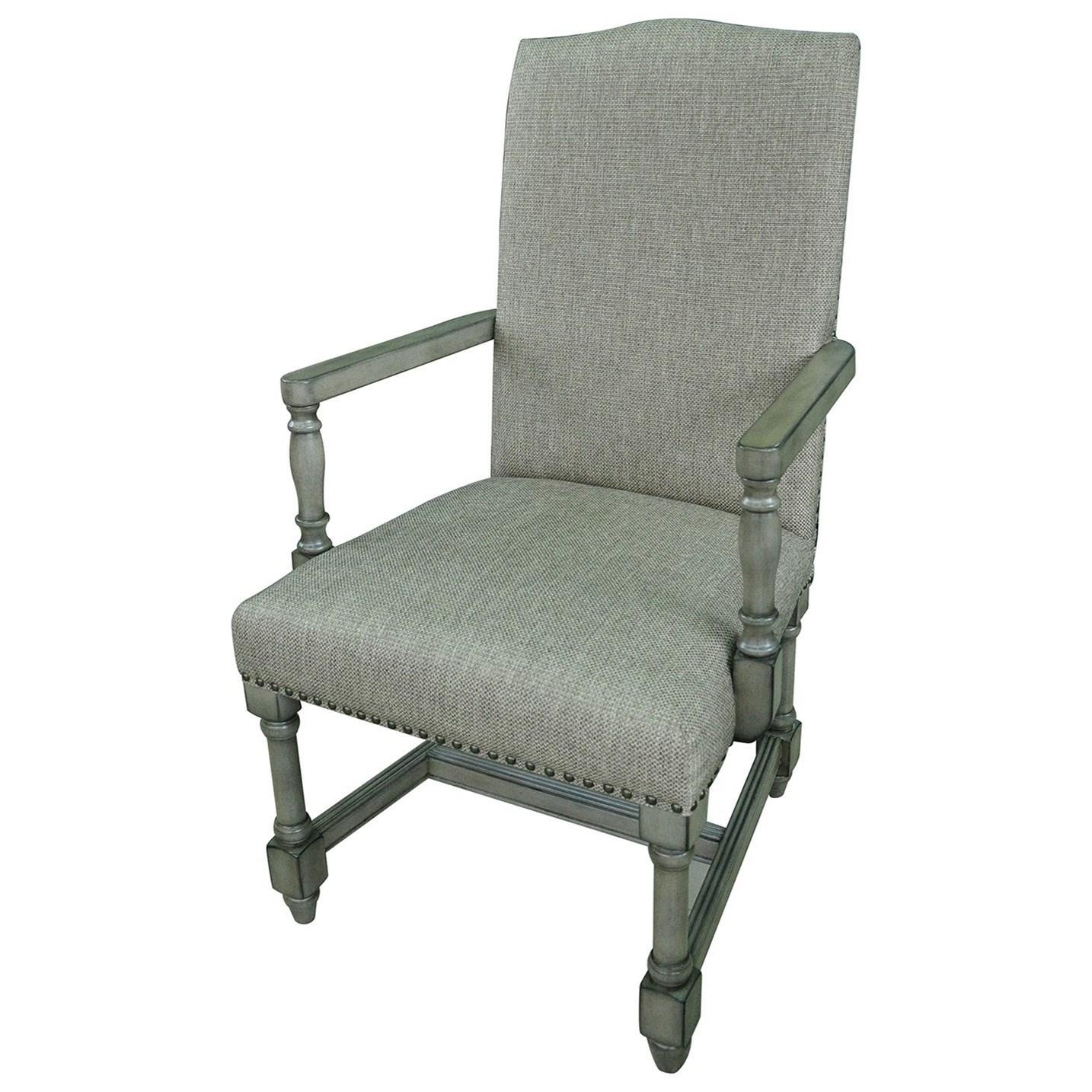 Baroque Linen Arm Chair