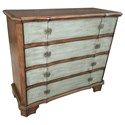 Crestview Collection Accent Furniture Felicity 4 Drawer 2 Tone Shaped Front Chest - Item Number: CVFZR1839