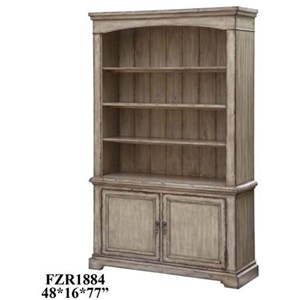 Brookhaven 2 Door / 3 Shelf Distressed Parch
