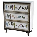 Crestview Collection Accent Furniture Birds on a Wire 3 Drawer Painted Chest - Item Number: CVFZR1921