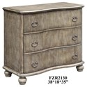 Crestview Collection Accent Furniture Hamilton Curved 3 Drawer Chest in Heritage B - Item Number: CVFZR2130