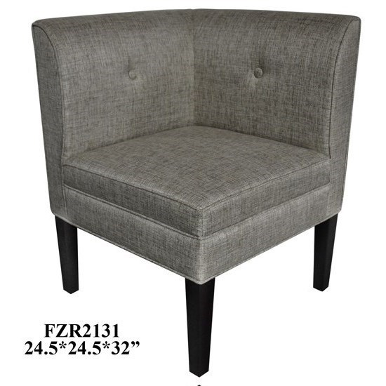 Accent Furniture Abbott Button Tufted Corner Linen Chair by Crestview Collection at Factory Direct Furniture