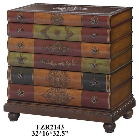 Accent Furniture Library 6 Drawer Chest by Crestview Collection at Factory Direct Furniture