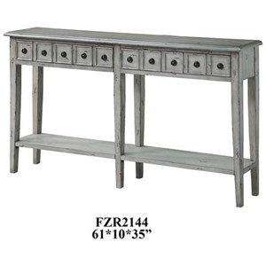 Crestview Collection Accent Furniture Newcastle 2 Drawer Antique White Console