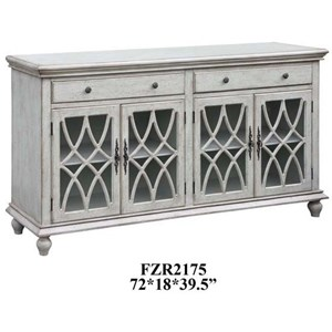 Crestview Collection Accent Furniture Paxton Pale Grey Sideboard