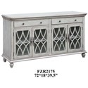 Crestview Collection Accent Furniture Paxton Pale Grey Sideboard - Item Number: CVFZR2175