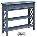 Crestview Collection Accent Furniture Weston Slate Grey 2 Drawer Console - Item Number: CVFZR2197