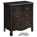 Crestview Collection Accent Furniture Woodbridge 4 Drawer Dark Oak Chest - Item Number: CVFZR2204
