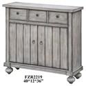 Crestview Collection Accent Furniture Paxton White Oak 3 Drawer / 2 Door Cabinet - Item Number: CVFZR2219