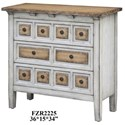 Crestview Collection Accent Furniture Donovan 3 Drawer Raised Front Two Tone Chest - Item Number: CVFZR2225