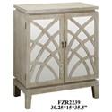 Crestview Collection Accent Furniture Biscayne Light Oak 2 Mirrored Design Door Ca - Item Number: CVFZR2239