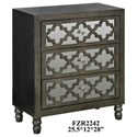 Crestview Collection Accent Furniture Avery 3 Mirrored Drawer Silver Leaf Chest w/ - Item Number: CVFZR2242