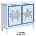Crestview Collection Accent Furniture Block Island Whitewash 2 Door Crab and Turtl - Item Number: CVFZR2247
