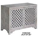Crestview Collection Accent Furniture Charlotte 2 Door Light Wash Diamond Lattice  - Item Number: CVFZR2260