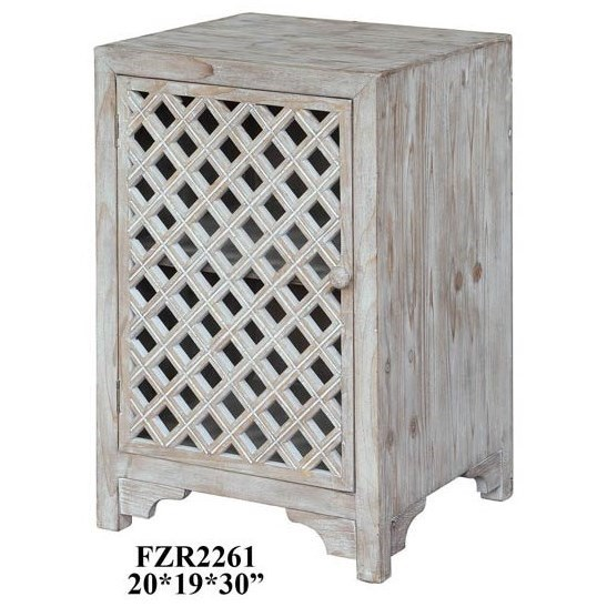 Charlotte 1 Door Light Wash Diamond Lattice
