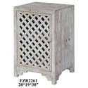 Crestview Collection Accent Furniture Charlotte 1 Door Light Wash Diamond Lattice  - Item Number: CVFZR2261