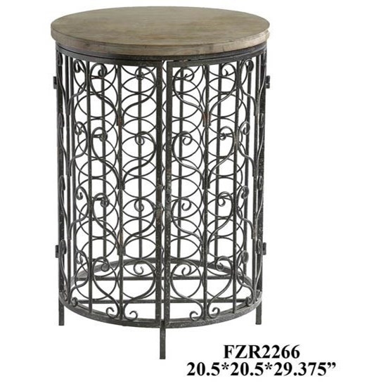 Accent Furniture Sonoma Iron and Metal Rustic Wine Cabinet by Crestview Collection at Factory Direct Furniture