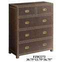 Crestview Collection Accent Furniture Churchill Faux Leather Chest - Item Number: CVFZR2272