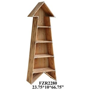 Crestview Collection Accent Furniture Chickasaw Rustic Wood Arrow Bookshelf