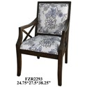 Crestview Collection Accent Furniture Sylvia Floral Linen Pattern Accent Chair w/  - Item Number: CVFZR2293