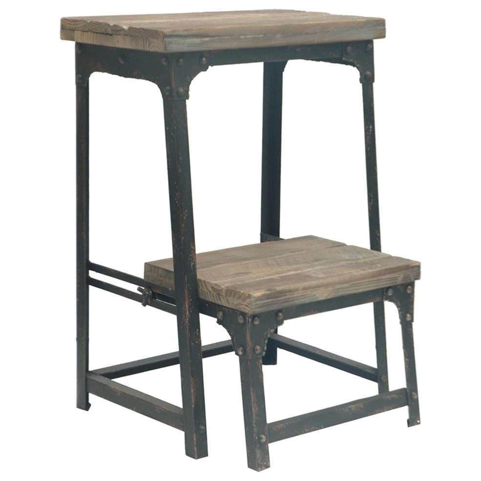 Accent Furniture Industria Step Stool by Crestview Collection at Factory Direct Furniture