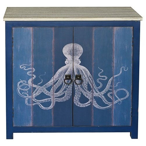 Accent Furniture 2 Door Deep Blue Cabinet by Crestview Collection at Factory Direct Furniture