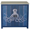 Crestview Collection Accent Furniture 2 Door Deep Blue Cabinet - Item Number: CVFZR3534