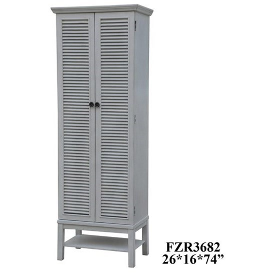 Accent Furniture Tall Storage Cabinet by Crestview Collection at Factory Direct Furniture
