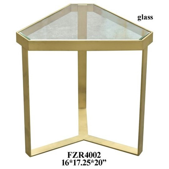 Accent Furniture Gold Triangle Accent Table by Crestview Collection at Factory Direct Furniture