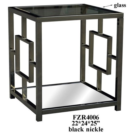 Accent Furniture Chrome Rectangle End Table by Crestview Collection at Factory Direct Furniture