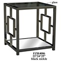 Crestview Collection Accent Furniture Chrome Rectangle End Table - Item Number: CVFZR4006