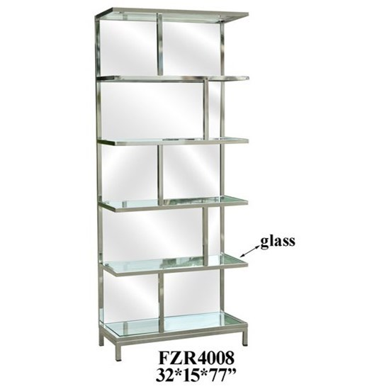 Accent Furniture Chrome and Mirror Etagere by Crestview Collection at Factory Direct Furniture