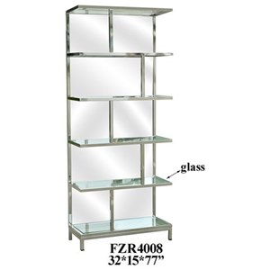Chrome and Mirror Etagere