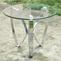 Crestview Collection Accent Furniture Nickel Tri Leg End Table - Item Number: CVFZR4009