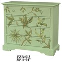Crestview Collection Accent Furniture Floral 4 Drawer Chest - Item Number: CVFZR4013