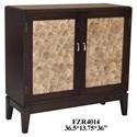 Crestview Collection Accent Furniture 2 Door Capiz Shell Cabinet - Item Number: CVFZR4014