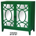Crestview Collection Accent Furniture 2 Door Mirrored Cabinet - Item Number: CVFZR4021