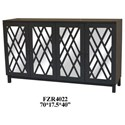 Crestview Collection Accent Furniture Deep Grey 4 Door Sideboard - Item Number: CVFZR4022