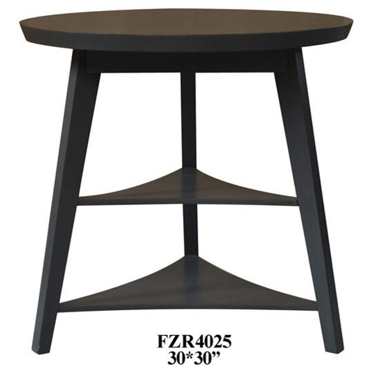 Accent Furniture Deep Grey Tier Accent Table by Crestview Collection at Factory Direct Furniture