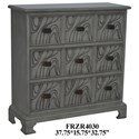 Crestview Collection Accent Furniture Wavy 3 Drawer Stone Grey Chest - Item Number: CVFZR4030