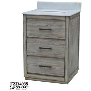2 Drawer Vanity Sink