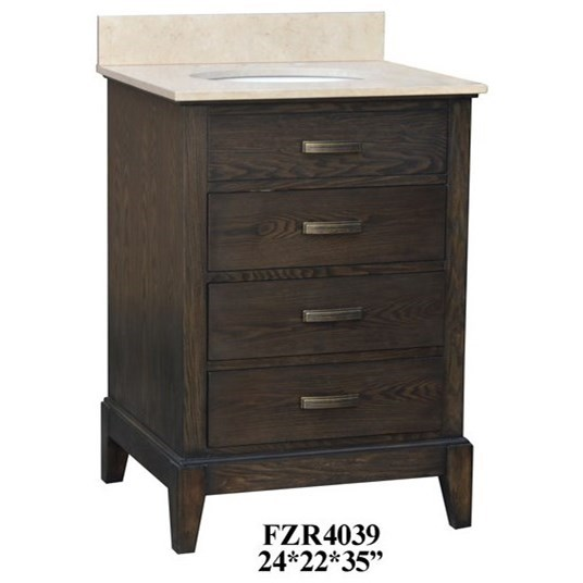 Accent Furniture 3 Drawer Vanity Sink by Crestview Collection at Factory Direct Furniture