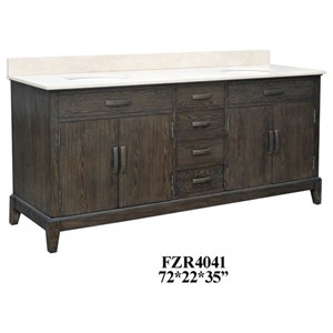 4 Drawer Double Vanity Sink