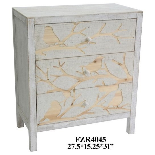 Accent Furniture 3 Drawer Chest by Crestview Collection at Factory Direct Furniture