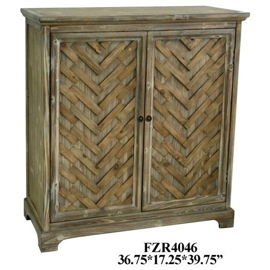 Accent Furniture Rustic 2 Door Cabinet by Crestview Collection at Factory Direct Furniture
