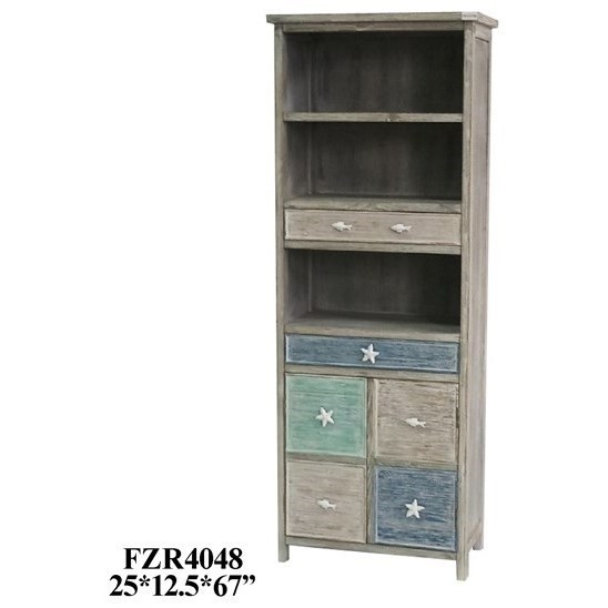 Accent Furniture Grey and Multi-Color Cabinet by Crestview Collection at Factory Direct Furniture
