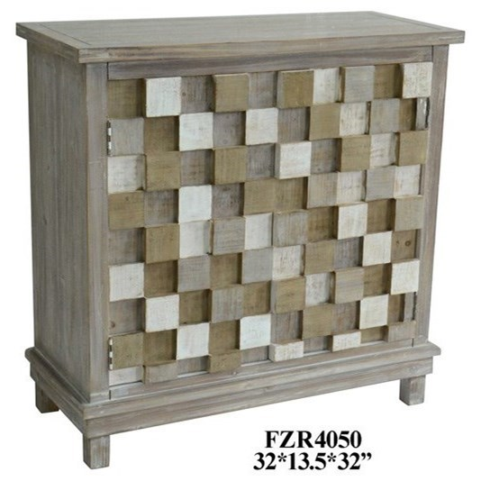 Accent Furniture 2 Door Multi-Colored Grey Cabinet by Crestview Collection at Factory Direct Furniture